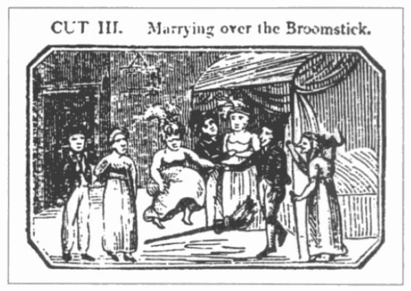 Catnach broomstick wedding 1822